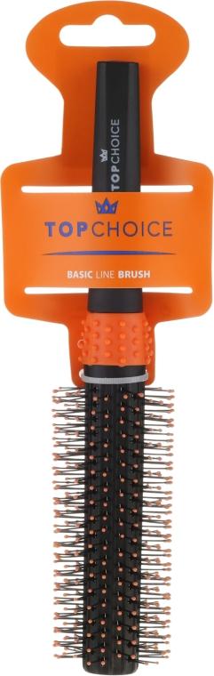 Okrągła szczotka do włosów, czarno-pomarańczowa, 2083 - Top Choice — фото N1