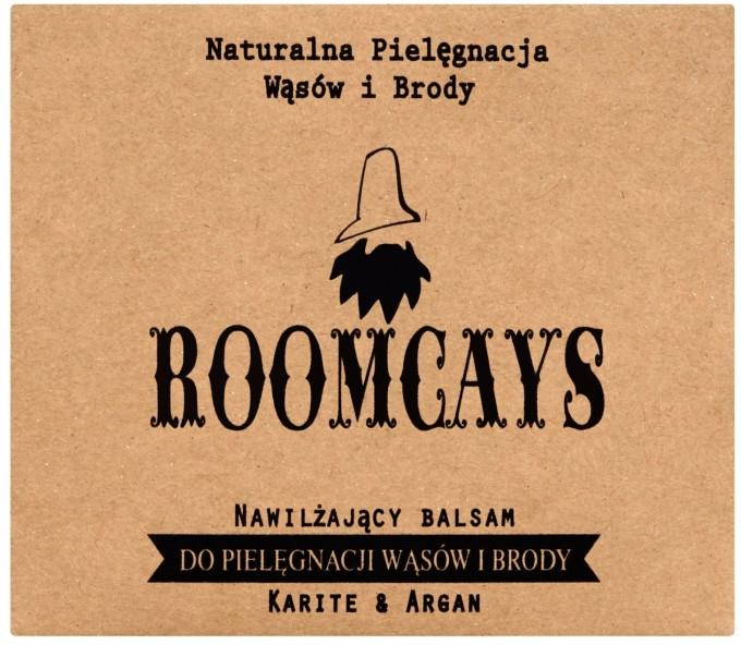 Nawilżający balsam do pielęgnacji wąsów i brody Masło karite i olej arganowy - Roomcays