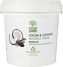 Kup Bezzapachowy krem do masażu - Bulgarian Rose Herbal Care Cocoa & Coconut Massage Cream Odorless
