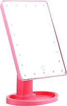 Kup Duże lusterko do makijażu, różowe - Lewer