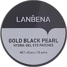 Kup Hydrożelowe płatki pod oczy z ekstraktem z czarnych pereł i złotem - Lanbena Gold Black Pearl Hydra-Gel Eye Patch