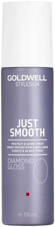 Nabłyszczający spray ochronny do włosów - Goldwell Style Sign Just Smooth Diamond Gloss Protect & Shine Spray
