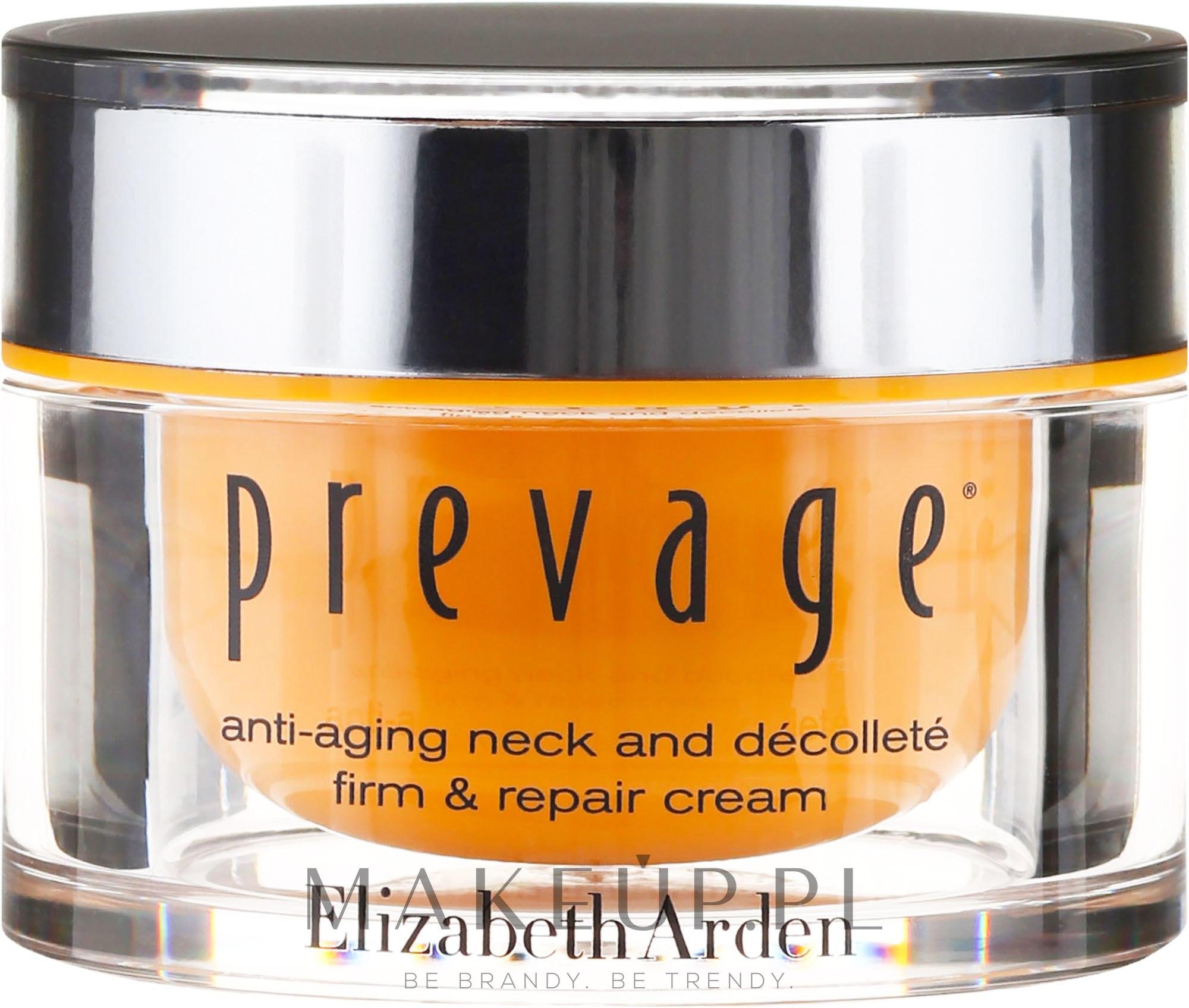 Naprawczy krem przeciwstarzeniowy do szyi i dekoltu - Elizabeth Arden Prevage Neck And Decollette Firm & Repair Cream — фото 50 ml