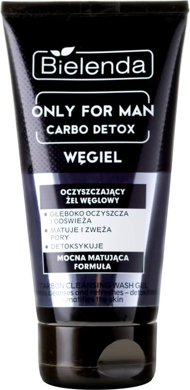 Oczyszczający żel węglowy do twarzy dla mężczyzn - Bielenda Only For Men Carbo Detox Węgiel — фото N1