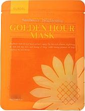 Kup Rozświetlająca maseczka w płachcie do twarzy - Elroel Golden Hour Mask Sunflower Brightening