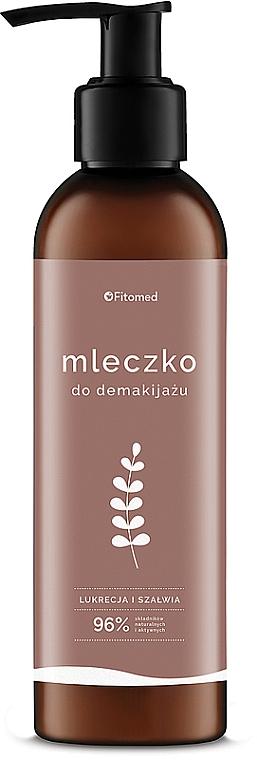 Ziołowe mleczko nawilżająco-oczyszczające do demakijażu Lukrecja i szałwia - Fitomed Polskie zioła