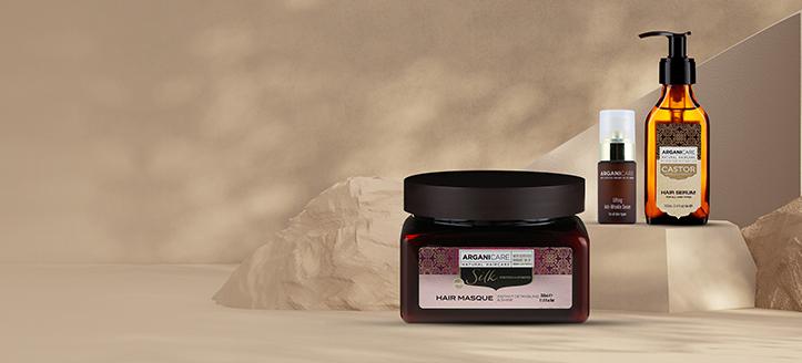 Przy zakupie dwóch produktów marki Arganicare, maskę do włosów z proteinami jedwabiu otrzymasz w prezencie.