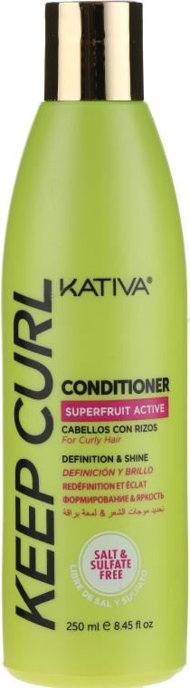 Odżywka do włosów kręconych ułatwiająca rozczesywanie - Kativa Keep Curl Conditioner — фото N1