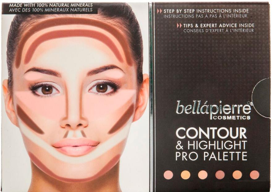 Paletka do konturowania twarzy - Bellapierre Cosmetics Contour & Highlight Pro Palette — фото N2