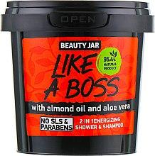 Kup Energizujący szampon-żel pod prysznic 2 w 1 dla mężczyzn Like A Boss - Beauty Jar 2 in 1 Energizing Shower & Shampoo