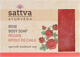 Mydło w kostce do ciała Róża - Sattva Ayurveda Rose Body Soap — фото N1