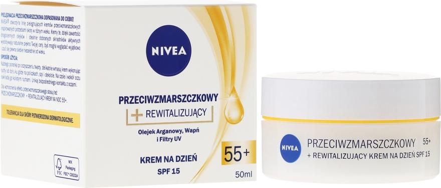 Przeciwzmarszczkowy krem rewitalizujący do twarzy na dzień 55+ - Nivea Anti-Wrinkle Revitalizing Day Cream