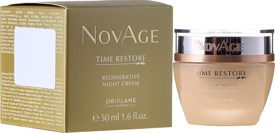 PRZECENA! Odmładzający krem do twarzy na noc - Oriflame NovAge Time Restore Regenerative Night Cream* — фото N1