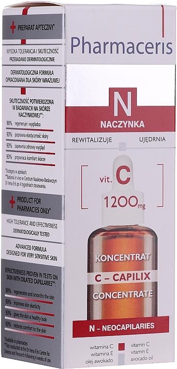 Wzmacniająco-wygładzający koncentrat z witaminą C 1200 mg - Pharmaceris N Serum with Vit. C 1200 mg Strengtening and Smoothing