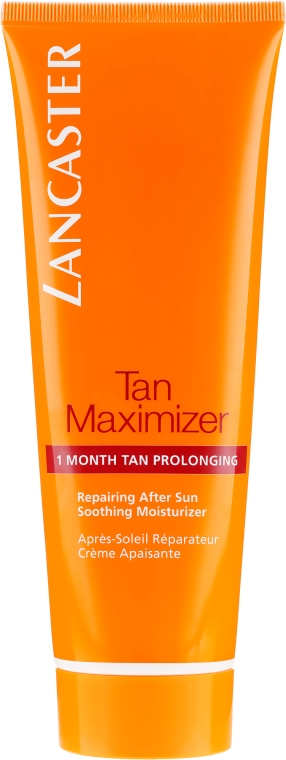 Nawilżający krem po opalaniu do twarzy - Lancaster Tan Maximizer Soothing Moisturizer Repairing After Sun Facial Cream