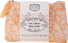 Kup PRZECENA! Zestaw - Panier des Sens Orange Blossom Week-End Set (sh/gel/70ml + b/lot/70ml + h/cr/30ml + bag) *