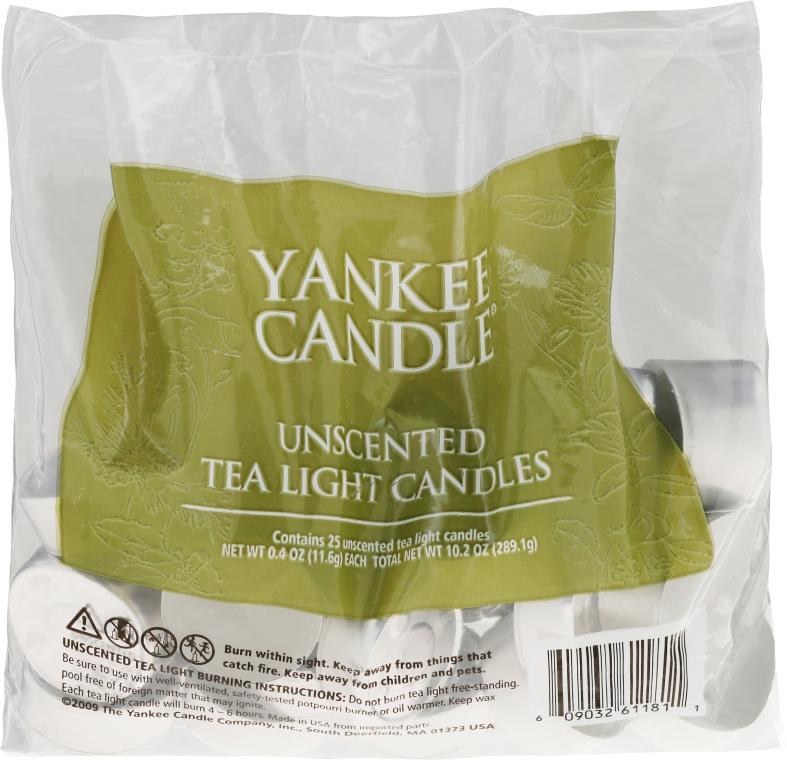 Podgrzewacze bezzapachowe tealight - Yankee Candle Yankee Candle Unscented Tea Lights Candles — фото N1