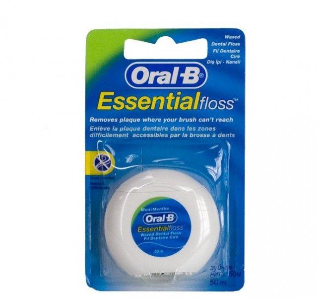 Woskowana nić dentystyczna Mięta, 50 m - Oral-B Essential Floss