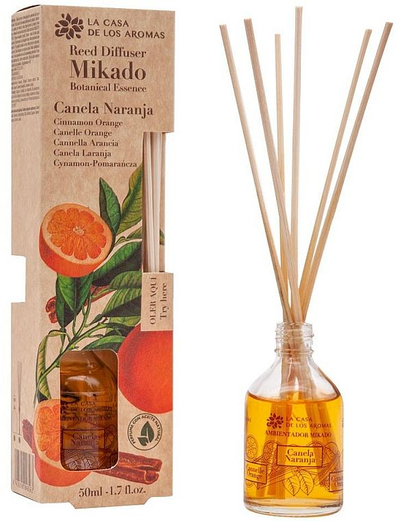 Dyfuzor zapachowy Pomarańcza i cynamon - La Casa de los Aromas Mikado Botanical Reed Diffuser Cinnamon Orange — фото N1