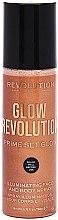 Kup Rozświetlacz w sprayu do twarzy i ciała - Makeup Revolution Glow Revolution Prime Set Glow