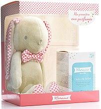 Kup Zestaw (edt 50 ml + Rabbit Teddy Pink) - Klorane Bebe Fragrant Water For Baby