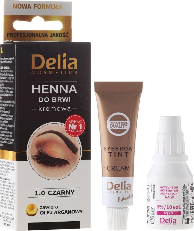 Henna do brwi w kremie - Delia Cosmetics Eyebrow Expert