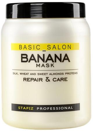 Regenerująca maska do włosów zniszczonych Banan - Stapiz Basic Salon Banana Mask