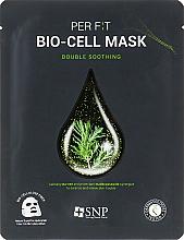 Kup Kojąca maseczka w płachcie do twarzy z ekstraktem z drzewa herbacianego - SNP Double Synergy Soothing Bio-Cell Mask