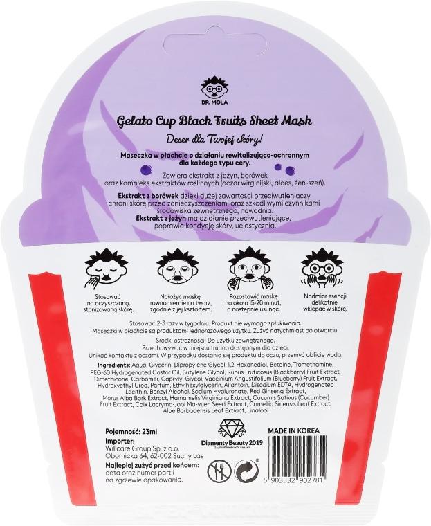 Maseczka w płachcie do twarzy - Dr. Mola Black Fruits Gelato Cup Sheet Mask — фото N2