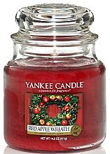 Kup PRZECENA! Świeca zapachowa w słoiku - Yankee Candle Red Apple Wreath *