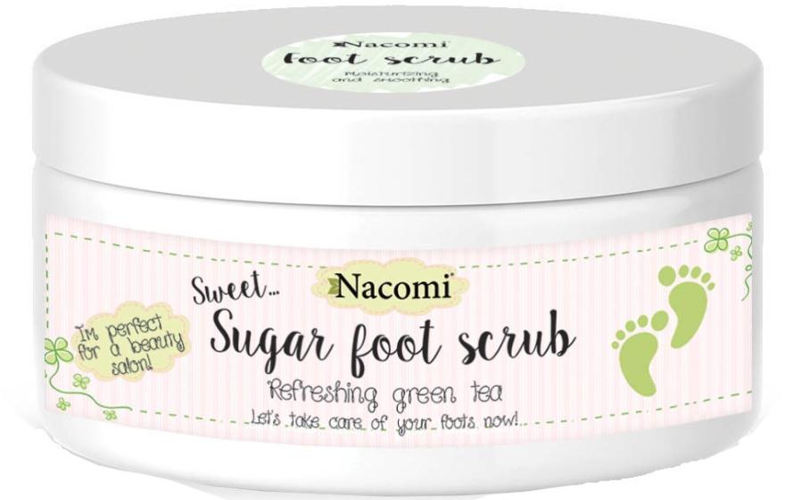 Naturalny peeling cukrowy do stóp Zielona herbata - Nacomi Sugar Foot Scrub