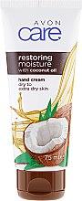 Kup Odbudowujący krem nawilżający do rąk z olejem kokosowym - Avon Care Restoring Moisture Hand Cream With Coconut Oil