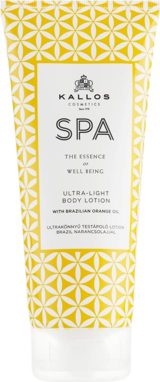 Ultralekki balsam do ciała z brazylijskim olejkiem pomarańczowym - Kallos Cosmetics Spa Ultra Light Body Lotion