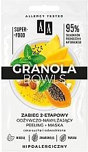Kup 2-etapowy zabieg odżywczo-nawilżający peeling + maska do cery suchej i odwodnionej - AA Granola Bowls