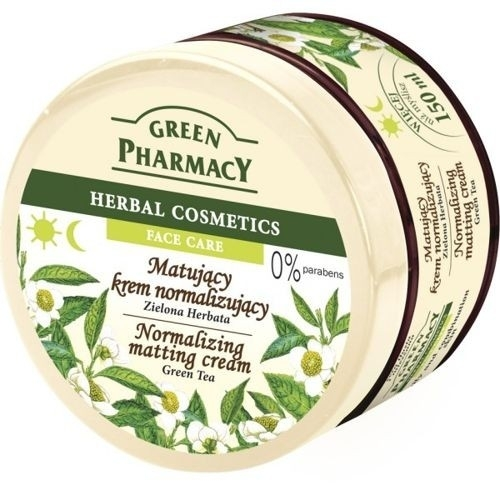 Matujący krem normalizujący Zielona herbata - Green Pharmacy Normalizing Matting Cream