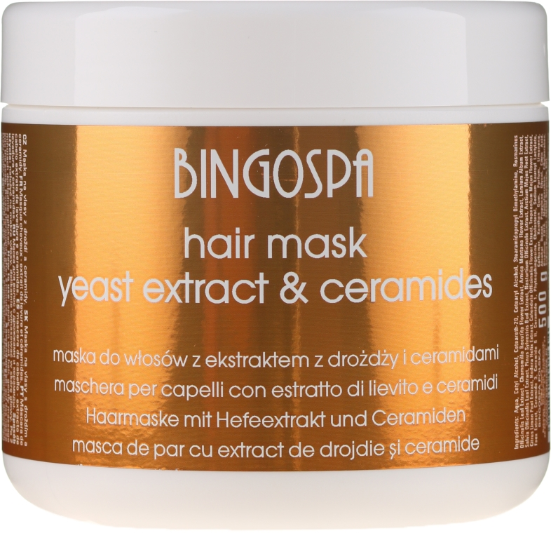 Maska do włosów z ekstraktem z drożdży - BingoSpa Hair Mask With Yeast Extract