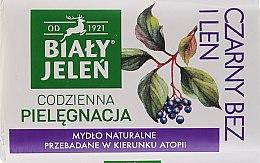 Kup Hipoalergiczne mydło naturalne Czarny bez i len - Biały Jeleń