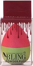 Kup Gąbka do makijażu, różowo-zielona - Bling Powder Puff