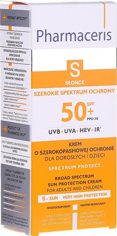 Krem ochronny przed słońcem dla dorosłych i dzieci - Pharmaceris S Broad Spectrum Sun Protect Cream SPF50