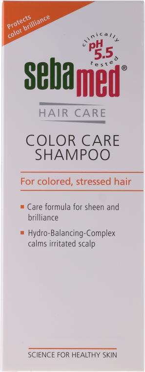 Szampon do włosów farbowanych - Sebamed Classic Colour Care Shampoo — фото N1