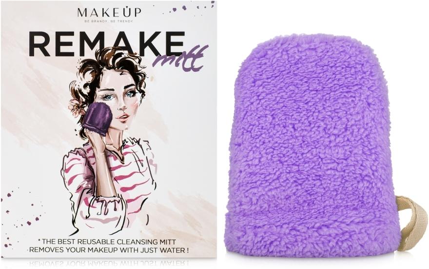 Liliowa rękawiczka do demakijażu ReMake (15 x 12 cm) - Makeup