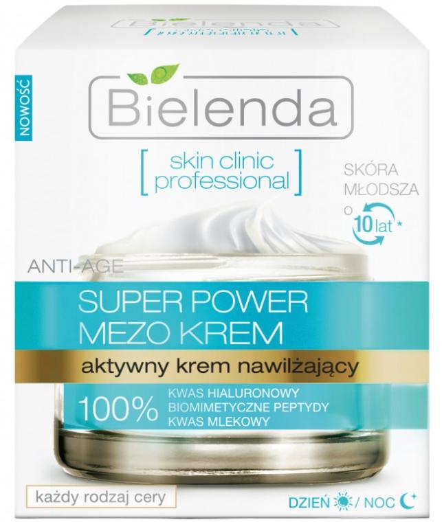 Aktywny krem nawilżający na dzień i na noc - Bielenda Skin Clinic Professional Mezo Anti-age