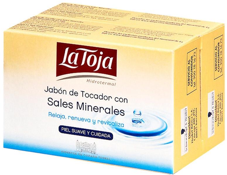 Zestaw - La Toja Hidrotermal Toilet Soap With Mineral Salt (soap/2x125g) — фото N1