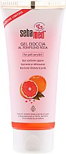 Odżywczo-orzeźwiający żel pod prysznic do skóry wrażliwej Grejpfrut - Sebamed Shower Gel With Grapefruit Nourishes And Refreshes — фото N1