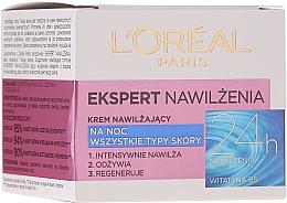 Kup Krem nawilżający na noc do wszystkich typów skóry Ekspert nawilżenia - L'Oreal Paris Face Cream