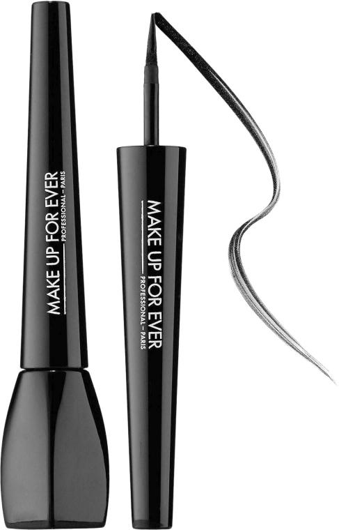 Eyeliner dwustronny z kredką i pędzelkiem - Make Up For Ever Ink Liquid Eyeliner — фото N1