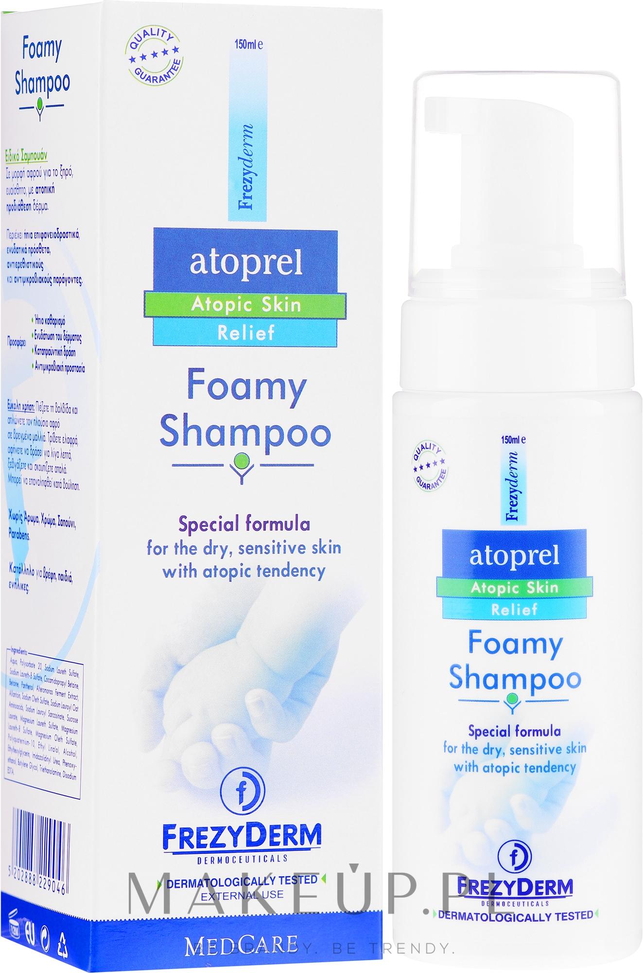 Szampon w piance do skóry atopowej - Frezyderm Atoprel Foamy Shampoo — фото 150 ml