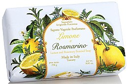 Kup Naturalne mydło w kostce Cytryna i rozmaryn - Saponificio Artigianale Fiorentino Lemon & Rosemary Soap