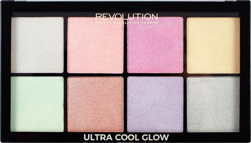 Paletka rozświetlaczy do twarzy - Makeup Revolution Ultra Cool Glow
