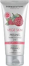 Kup Peeling 2 w 1 do twarzy i ciała Malina i kokos - DermoFuture Vege Skin Face & Body Peeling 2 In 1 Raspberry & Coconut